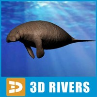 3ds max steller sea cow animals