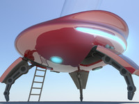 ufo space vehicle 3d ma
