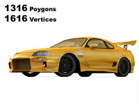 toyota supra tuning 3d model