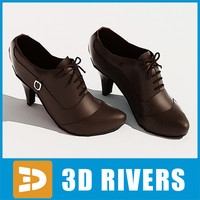 Women brown leather  shoes by 3DRivers