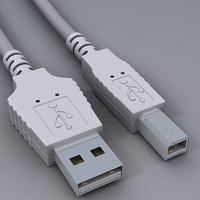 usb cable 3d max