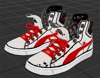 3d model sketch shose