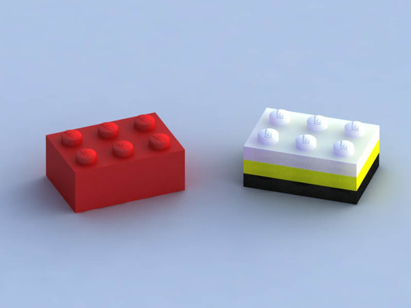 3ds max lego building blocks - lego collection... by Sanchesqui