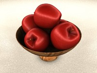 bowl apples 3d c4d