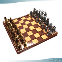 Executive Chess Board and Pieces