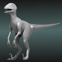 obj deinonychus dinosaur