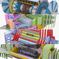 3d large hadron collider lhc model
