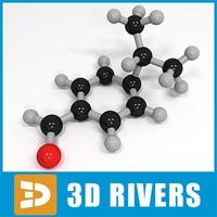 cuminaldehyde molecule structure max