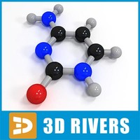 cytosine molecule structure 3d model