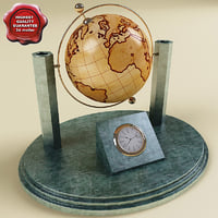 Desk Globe with Clock