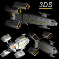 3ds max earth monitor space cruiser