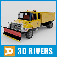 3d model of snow removal machine