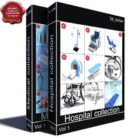 medical big collections 3d model