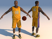 basketball player ball 3d model