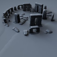 3d model ancient stone henge stonehenge