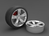 3ds wheel tire