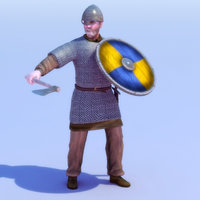 maya viking warrior rigged