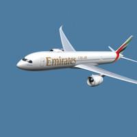 3d a350-900 emirates model