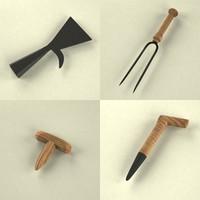 small garden tools 3d model