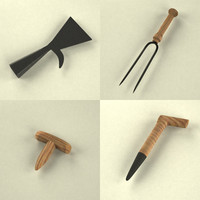 3d model tools small garden