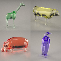 glass statuettes