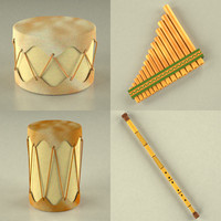 3d model indian musical instruments