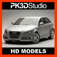 audi a3 2009 3d model