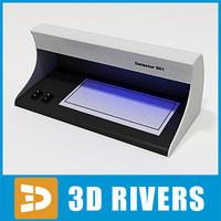 bank banknote detector 3d model