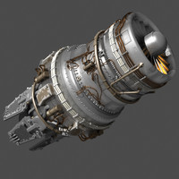 3ds max sci fi jet engine