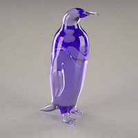 3d glass statuette