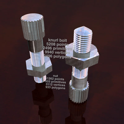 knurl nut and bolt