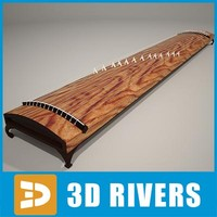 koto japanese musical 3d model