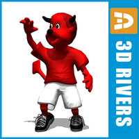fred manchester united mascot 3d model