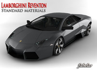 lamborghini reventon standard materials 3d model