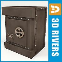 old safe 3d model