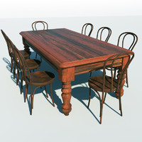 dining table chairs 3d max