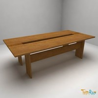 free table negotiations small 3d model