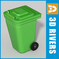 3ds max recycle trash cans