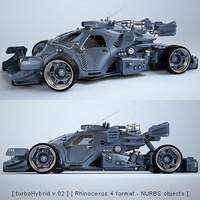 3d sci-fi concept car model