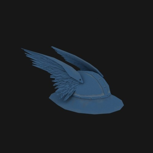 3d model b-2 b 2 - Viking Hat... by rusty_hawk
