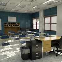 3d model middle classroom