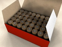 ammo box bullets 3d model