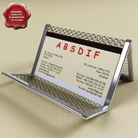 3d business card holder v3 model