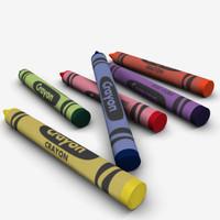 wax crayon 3d model
