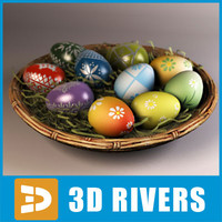 maya colorful easter eggs