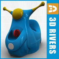 baby potty 3d model