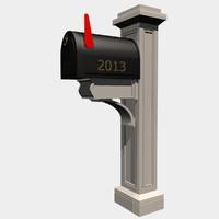 3d model newport mailbox post