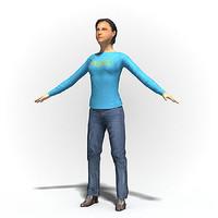 Free Woman 1006~ Rigged human model.zip
