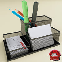 stationery set function 3d model
