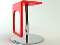 bar chair urban 3d model